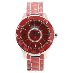 Christian Dior Christal Quartz Watch Stainless Steel and Sapphire Crystals with
