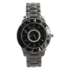 Christian Dior Christal VIII Quartz Watch Ceramic and Stainless Steel