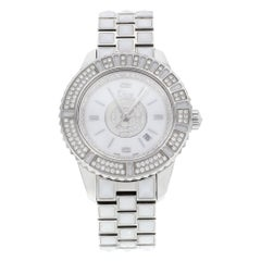 Christian Dior Christal White Dial Steel Ceramic Ladies Watch CD11311CM001