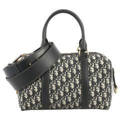 Christian Dior Convertible Boston Bag Oblique Canvas Medium
