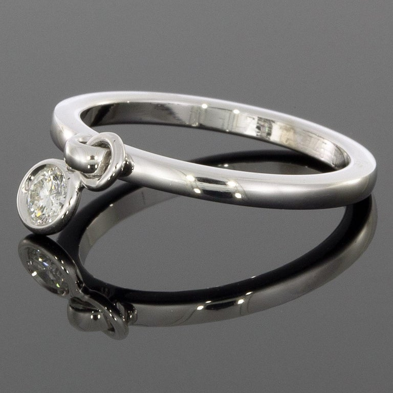 Christian Dior Coquine White Gold 0.17 Carat Round Diamond Ladies Fashion Ring In Excellent Condition For Sale In Columbia, MO