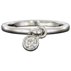Christian Dior Coquine White Gold 0.17 Carat Round Diamond Ladies Fashion Ring