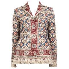 CHRISTIAN DIOR cotton & linen ORIENTAL Blazer Jacket 38 S