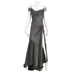 Christian Dior Couture Grey Silk Chiffon By John Galliano