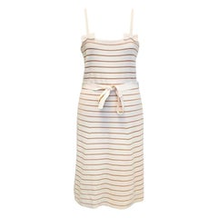 Christian Dior cream striped dress - Size US 10