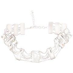 Christian Dior Crystal Choker with Logos