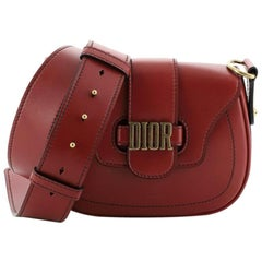 Christian Dior D-Fence Saddle Bag Leather Small