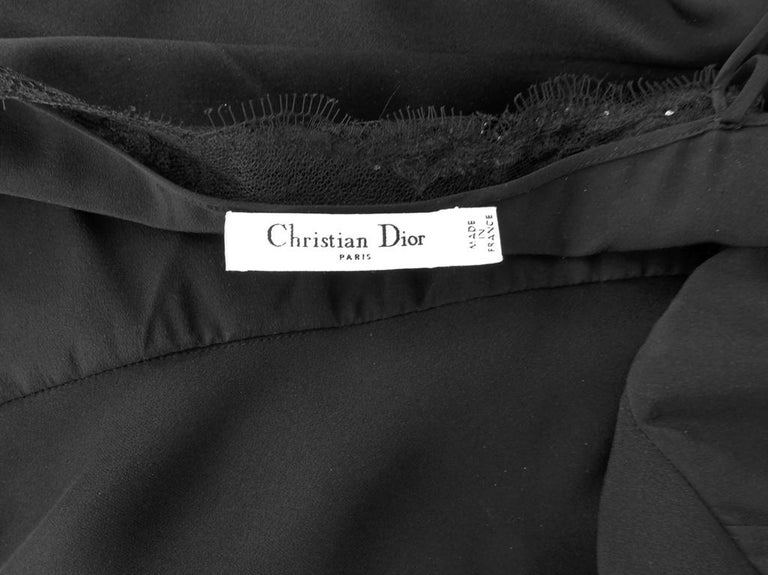 Christian Dior Deco Inspired Rich Black Bias Cut Gown For Sale 4