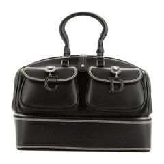 Christian Dior Detective Handle Bag Leather Large