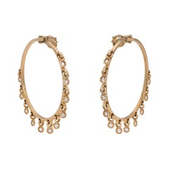 Christian Dior Fine Diamond and Gold Fringe Hoops