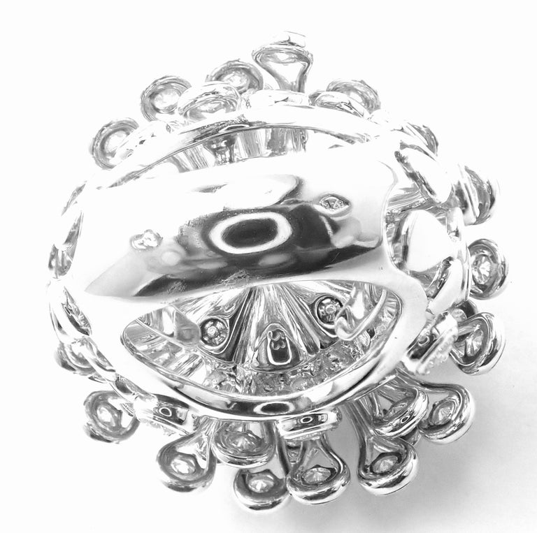 Christian Dior Diamond Large Flower White Gold Ring For Sale 6