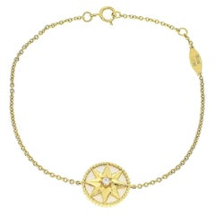 Christian Dior Diamond Mother of Pearl 18kt Yellow Gold Rose Des Vents Bracelet