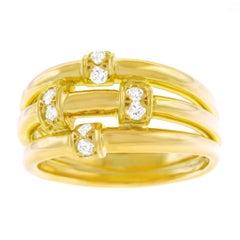 Christian Dior Diamond Set Gold Ring