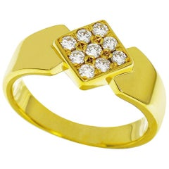 Christian Dior Diamonds 18 Karat Yellow Gold Ring