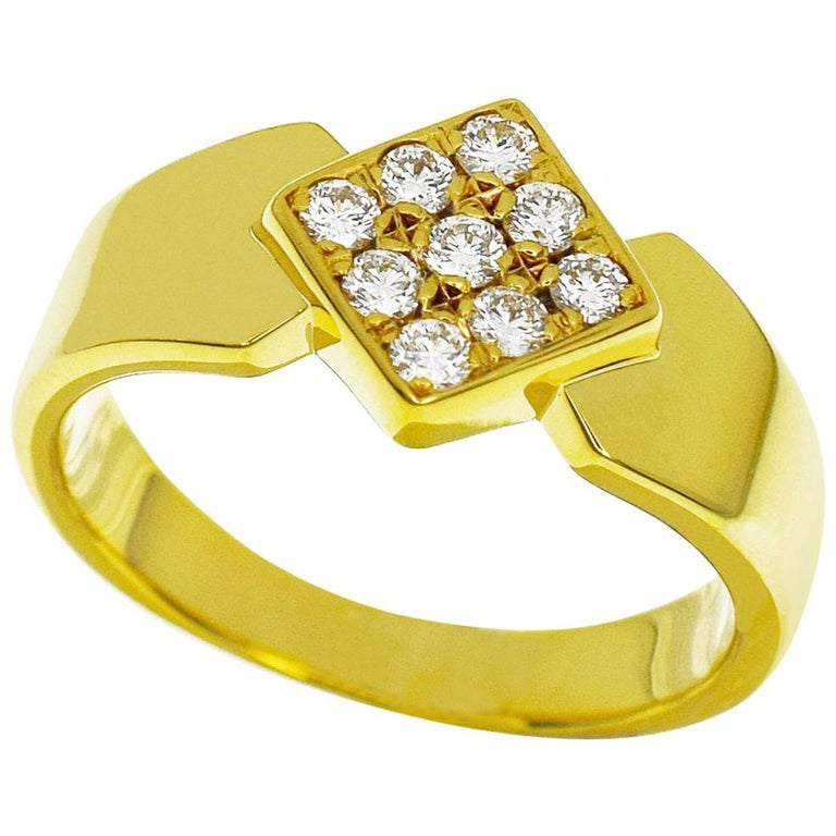 7d5455f8a848 Christian Dior Diamonds 18 Karat Yellow Gold Ring For Sale at 1stdibs