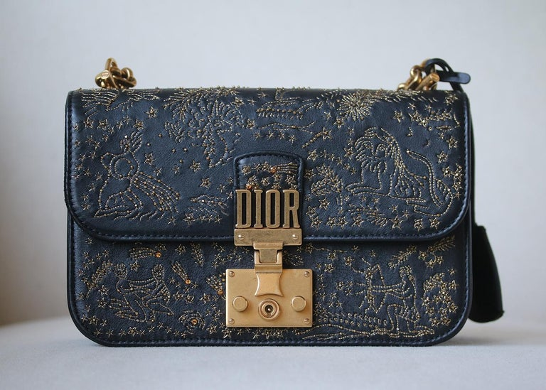 abc13cef4587 Christian Dior DiorAddict Embroidered Leather Bag at 1stdibs