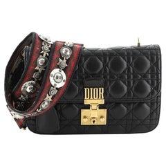 Christian Dior Dioraddict Flap Bag with Strap Cannage Quilt Lambskin Medi