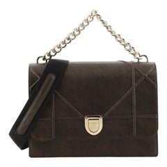 Christian Dior Diorama Chain Satchel Grained Leather Large
