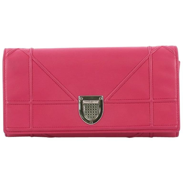 d3a3643b3a CHRISTIAN DIOR Wallet On Chain Miss Dior Bag in Quilted Soft Pink Leather  For Sale at 1stdibs