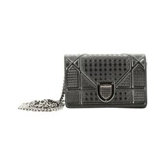 Christian Dior Diorama Flap Bag Cannage Embossed Calfskin Baby