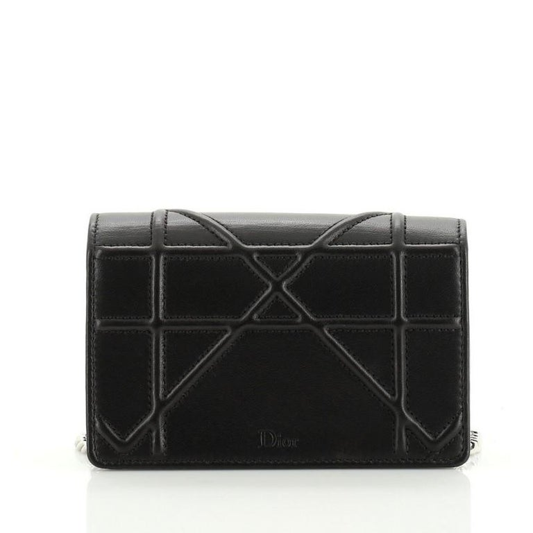 Christian Dior Diorama Flap Bag Leather Baby In Good Condition For Sale In New York, NY