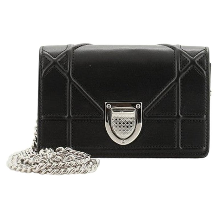 Christian Dior Diorama Flap Bag Leather Baby For Sale