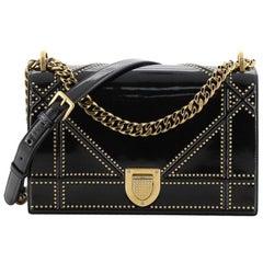 Christian Dior Diorama Flap Bag Studded Patent Medium