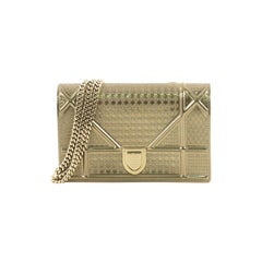 Christian Dior Diorama Wallet on Chain Cannage Embossed Calfskin