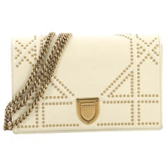 Christian Dior Diorama Wallet on Chain Studded Leather