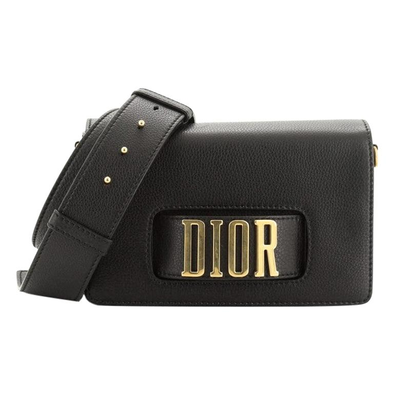Christian Dior Dio(R)Evolution Flap Bag Leather Medium  For Sale