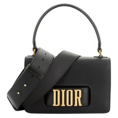 Christian Dior Dio(R)Evolution Top Handle Flap Bag Leather Medium