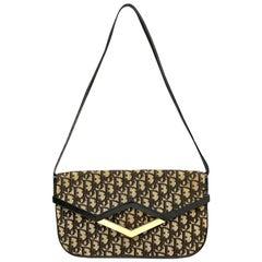 Christian Dior Diorissimo Black and Tan Shoulder Bag