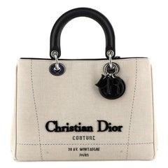 Christian Dior Diorissimo Tote Etoile Canvas Medium