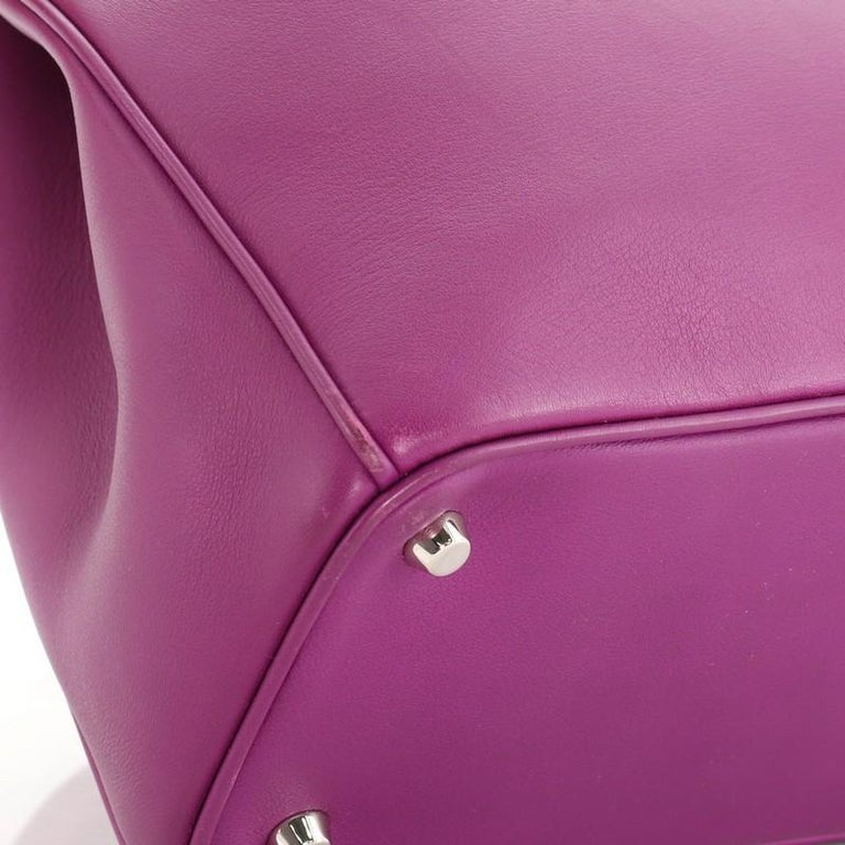 Christian Dior Diorissimo Tote Pebbled Leather Medium For Sale 2