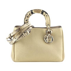 Christian Dior  Diorissimo Tote Pebbled Leather Mini