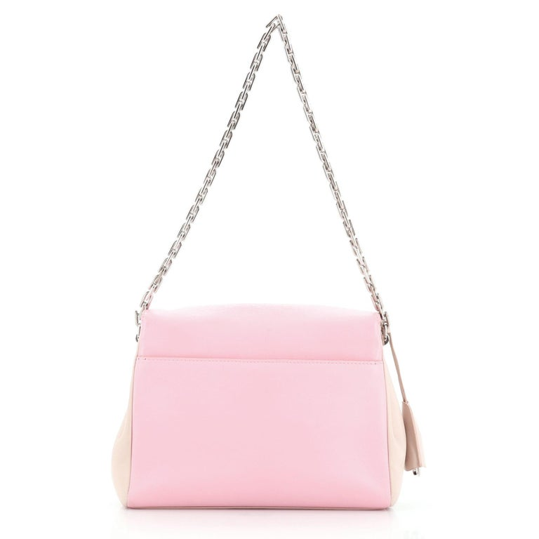 Pink Christian Dior Diorling Shoulder Bag Leather Large For Sale