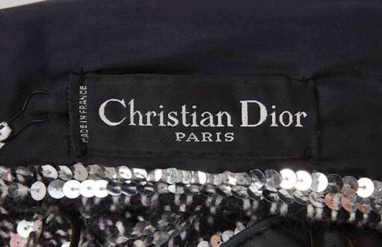 Christian Dior, Dress with black leather trim, circa 1960 For Sale 1