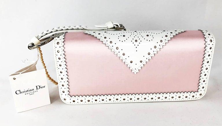 Beige Christian Dior D'Trick Shoulder Bag  For Sale