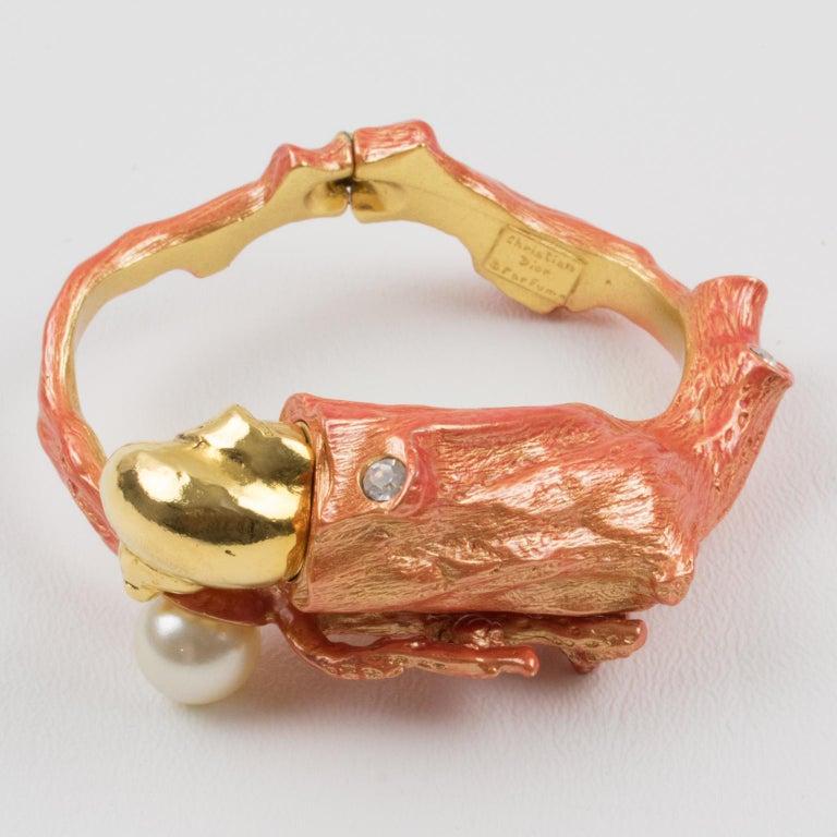 Christian Dior Dune 1987 Coral Branch Clamper Bracelet  For Sale 1