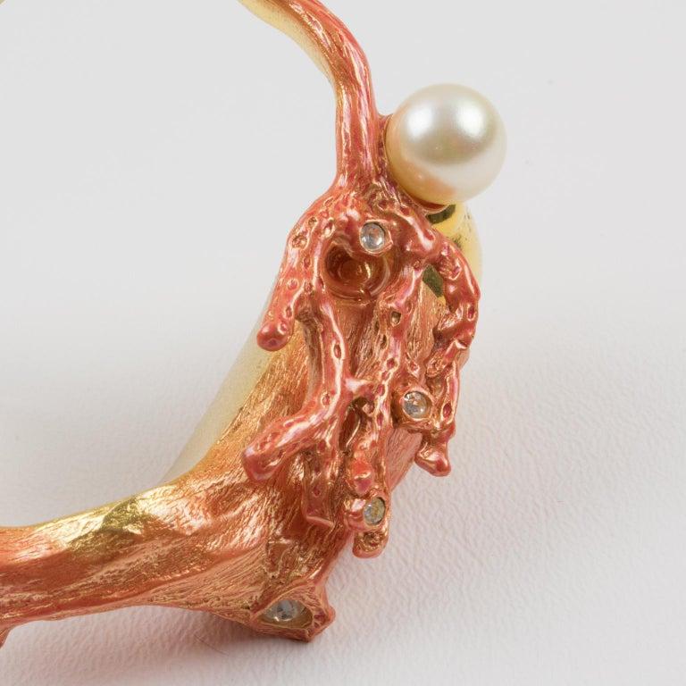 Christian Dior Dune 1987 Coral Branch Clamper Bracelet  For Sale 2