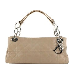 Christian Dior East West Soft Chain Tote Cannage Quilt Leather Small