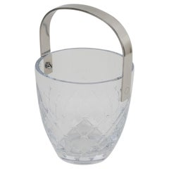 Christian Dior Etched Crystal and Stainless Steel Ice Bucket Cooler