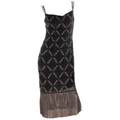 Christian Dior Evening Dress - black beads/embroidery