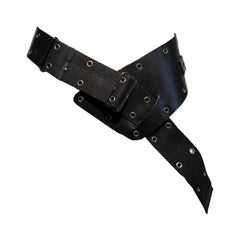 "Christian Dior F/W 2002 ""Admit it!"" Black Leather Belt"