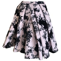 Christian Dior Fall 2010  Galliano's Final Collection Devore Velvet Ball Skirt