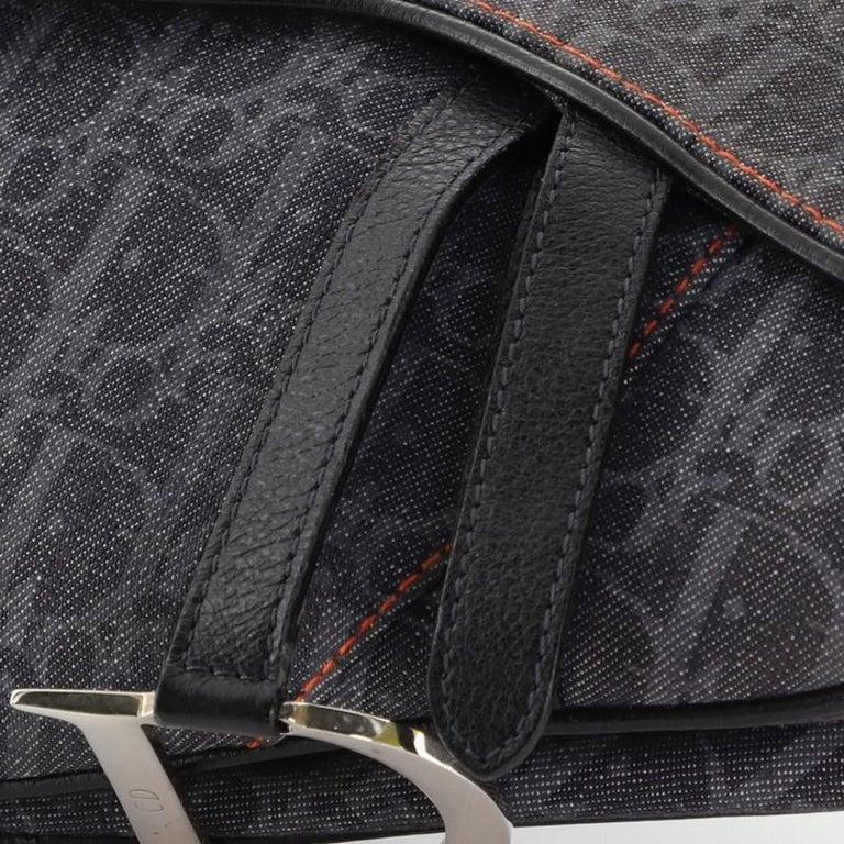 Christian Dior Flight Saddle Bag Diorissimo Denim Medium 2