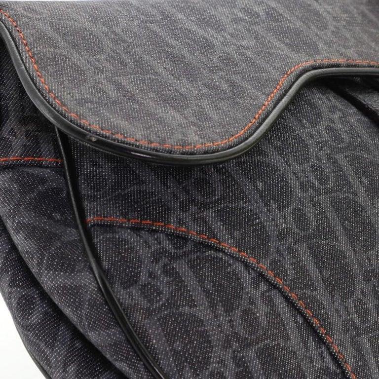 Christian Dior Flight Saddle Bag Diorissimo Denim Medium 3