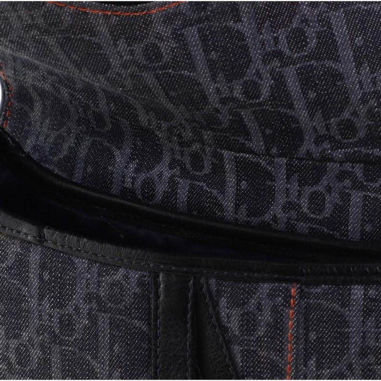 Christian Dior Flight Saddle Bag Diorissimo Denim Medium 4
