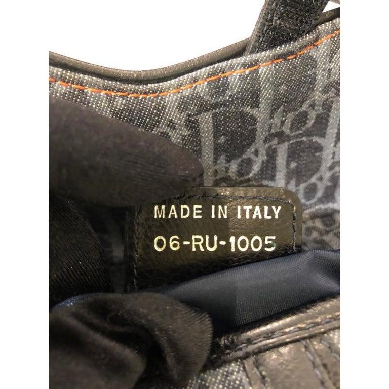 Christian Dior Flight Saddle Bag Diorissimo Denim Medium 5