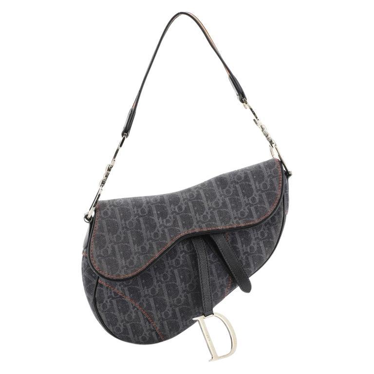 Christian Dior Flight Saddle Bag Diorissimo Denim Medium